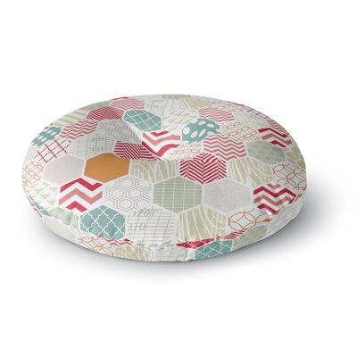 Heidi Jennings Geo Geometric Round Floor Pillow Size: 26 x 26