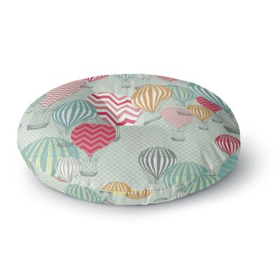 Heidi Jennings Hot Air Baloons Round Floor Pillow Size: 23 x 23