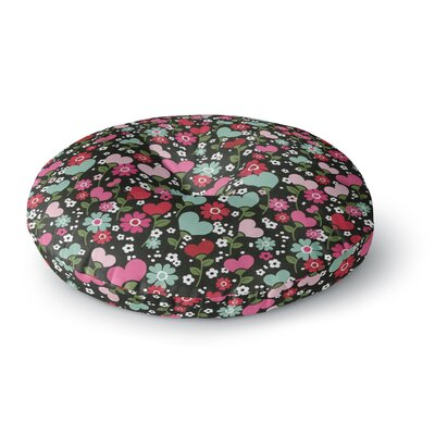 Heidi Jennings Love is Growing Round Floor Pillow Size: 23 x 23