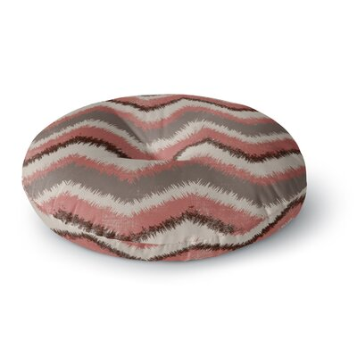 Heidi Jennings Fuzzy Chevron Round Floor Pillow Size: 23 x 23