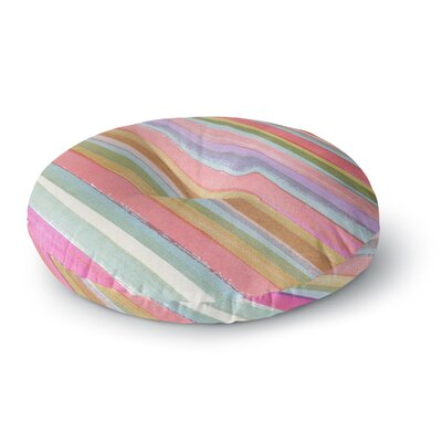 Heidi Jennings Stripes Round Floor Pillow Size: 26