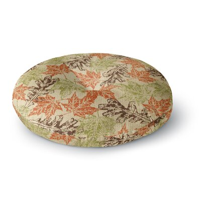 Heidi Jennings Leaf it to Me Round Floor Pillow Size: 23