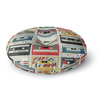 Heidi Jennings Retro Tape Round Floor Pillow Size: 23
