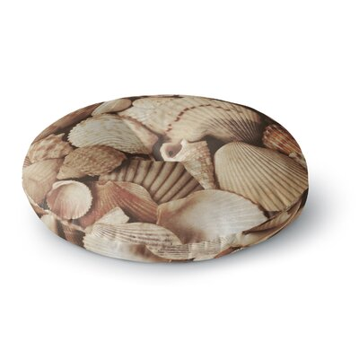 Heidi Jennings Shells Round Floor Pillow Size: 23 x 23