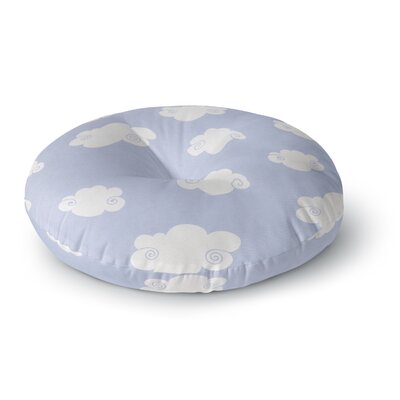 Heidi Jennings Happy Clouds Round Floor Pillow Size: 23 x 23