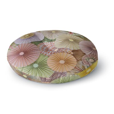 Heidi Jennings Spring Abstract Round Floor Pillow Size: 23 x 23