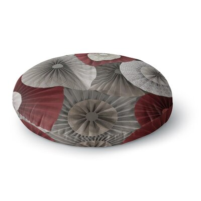 Heidi Jennings Merlot Maroon Abstract Round Floor Pillow Size: 23 x 23