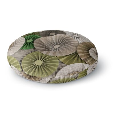 Heidi Jennings Forest Abstract Round Floor Pillow Size: 23 x 23