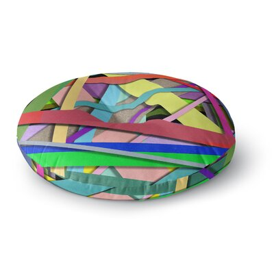 Ivan Joh Color Mood Illustration Round Floor Pillow Size: 26 x 26