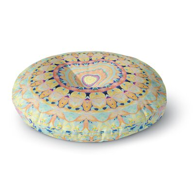 Iris Lehnhardt Flourish Circle Round Floor Pillow Size: 26 x 26