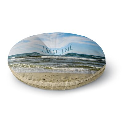 Iris Lehnhardt Imagine Beach Sky Round Floor Pillow Size: 26 x 26