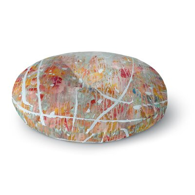 Iris Lehnhardt Joy Splatter Paint Round Floor Pillow Size: 23 x 23
