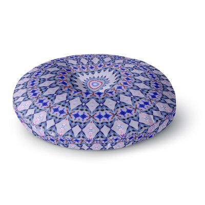 Iris Lehnhardt Kaleidoscope Circle Round Floor Pillow Size: 23 x 23, Color: Blue