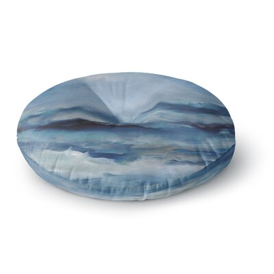 Iris Lehnhardt Rough Sea Ocean Round Floor Pillow Size: 26 x 26