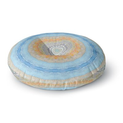 Iris Lehnhardt Summer Mandala Circle Round Floor Pillow Size: 26 x 26
