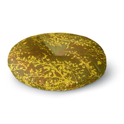 Iris Lehnhardt Twigs Silhouette Round Floor Pillow Size: 26 x 26, Color: Brown