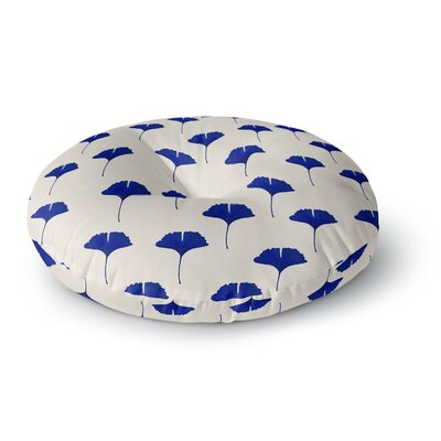 Iris Lehnhardt Leaf Pattern Round Floor Pillow ESTV9458 40951599