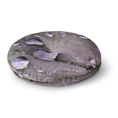 Iris Lehnhardt Water Droplets Round Floor Pillow Size: 26 x 26, Color: Gray