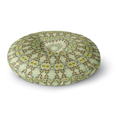 Iris Lehnhardt Kaleidoscope Circle Round Floor Pillow Size: 26 x 26, Color: Green