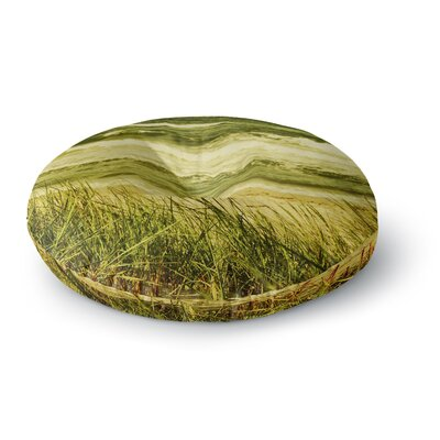 Iris Lehnhardt Dunes and Waves Water Round Floor Pillow Size: 26 x 26