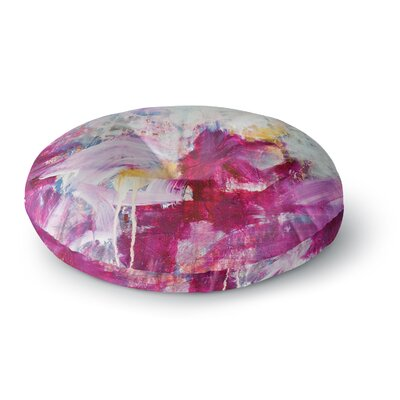 Iris Lehnhardt Magenta  Paint Round Floor Pillow Size: 26 x 26