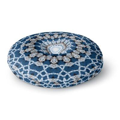 Iris Lehnhardt Mandala II  Abstract Round Floor Pillow Size: 26 x 26