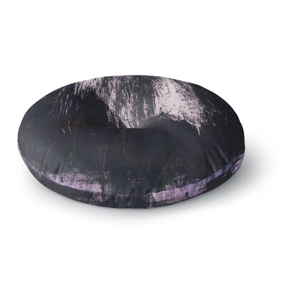 Iris Lehnhardt Brushstrokes 1 Abstract Round Floor Pillow Size: 26 x 26