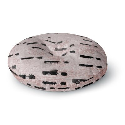 Iris Lehnhardt Texture and Pattern Round Floor Pillow Size: 23 x 23, Color: Pink
