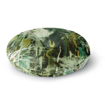 Iris Lehnhardt Tree Of Life Nature Round Floor Pillow Size: 26 x 26, Color: Green