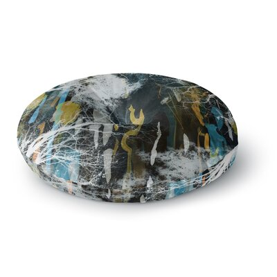 Iris Lehnhardt Tree Of Life Nature Round Floor Pillow Size: 26 x 26, Color: Blue