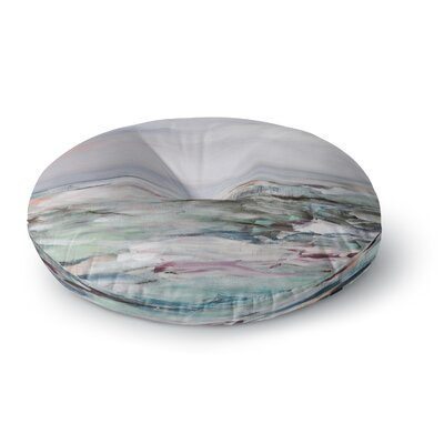 Iris Lehnhardt Coastal Scenery Abstract Round Floor Pillow Size: 23 x 23