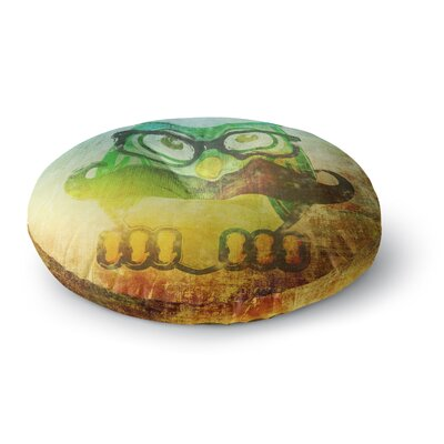 iRuz33 Showly Round Floor Pillow Size: 26 x 26, Color: Yellow
