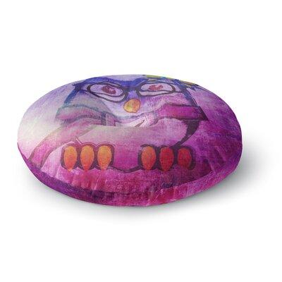 iRuz33 Showly Round Floor Pillow Size: 26 x 26, Color: Pink/Purple