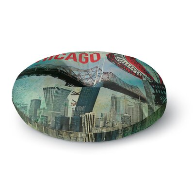 iRuz33 Chicago Round Floor Pillow Size: 26 x 26