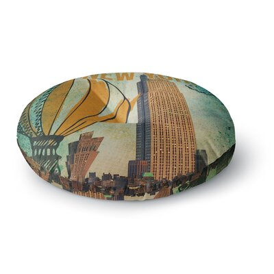 iRuz33 New York Round Floor Pillow Size: 26 x 26