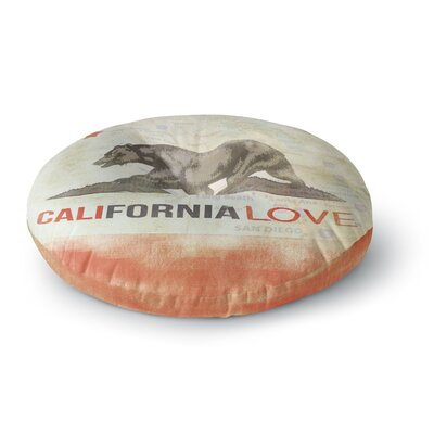 iRuz33 Cali Love Round Floor Pillow Size: 23 x 23