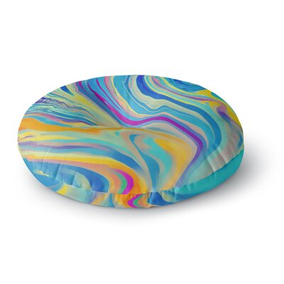 Ingrid Beddoes Rainbow Swirl Round Floor Pillow Size: 26 x 26