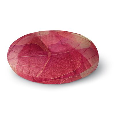 Ingrid Beddoes Delicate Leaves Round Floor Pillow Size: 26 x 26