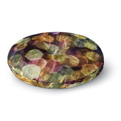 Ingrid Beddoes Warm Sparkle Round Floor Pillow Size: 26 x 26