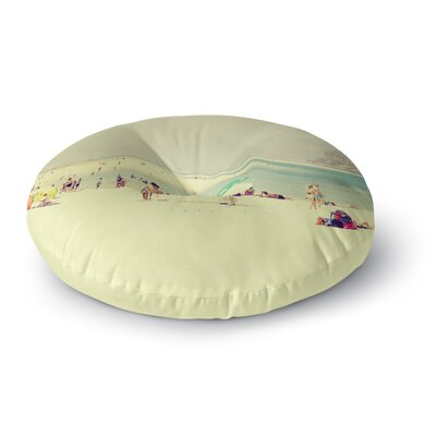 Ingrid Beddoes Lazy Days Summer Beach Round Floor Pillow Size: 23 x 23