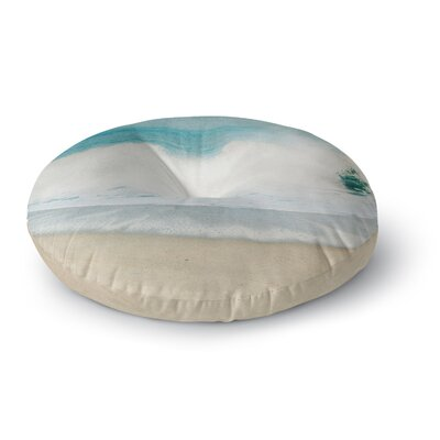 Ingrid Beddoes Ocean Wave Round Floor Pillow Size: 26 x 26