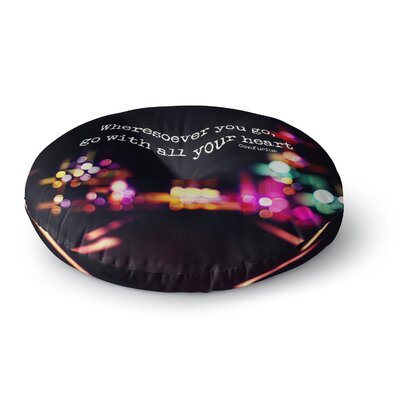 Ingrid Beddoes Road Trip Neon Round Floor Pillow Size: 23 x 23
