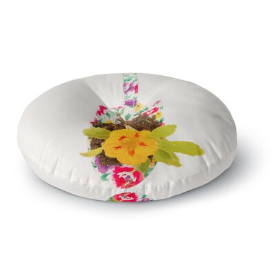 Ingrid Beddoes The Gardener Round Floor Pillow Size: 23 x 23
