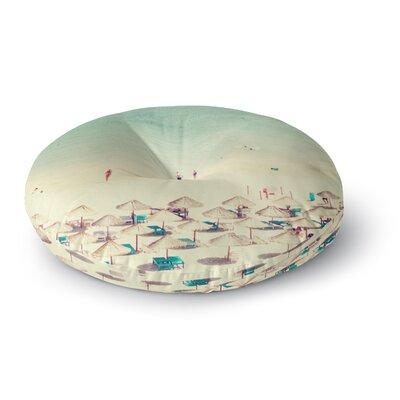 Ingrid Beddoes Happy Summer Beach Round Floor Pillow Size: 26 x 26