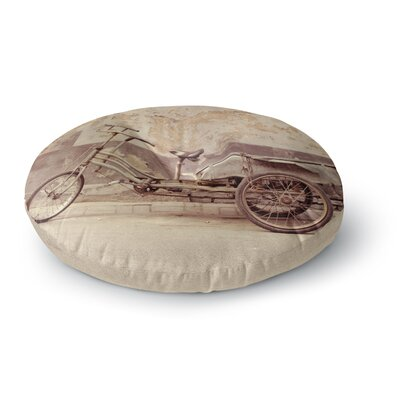 Jillian Audrey The  Bicycle Photography Round Floor Pillow Size: 26 x 26