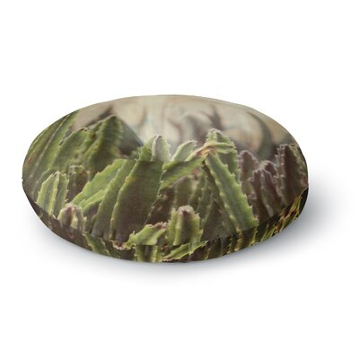 Jillian Audrey  Grass Cactus Round Floor Pillow Size: 26 x 26