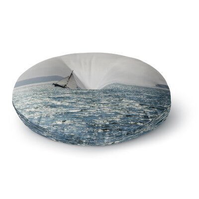 Jillian Audrey Sail the Sparking Seas Round Floor Pillow Size: 23 x 23