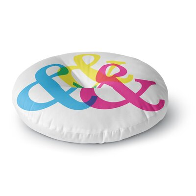 Jackie Rose CYMK Ampersands Colorful Round Floor Pillow Size: 23 x 23