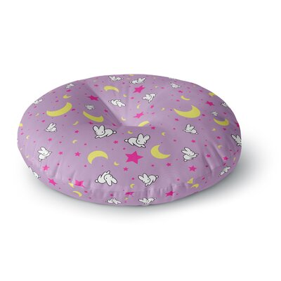 Jackie Rose Goodnight Usagi Magenta Round Floor Pillow Size: 23 x 23