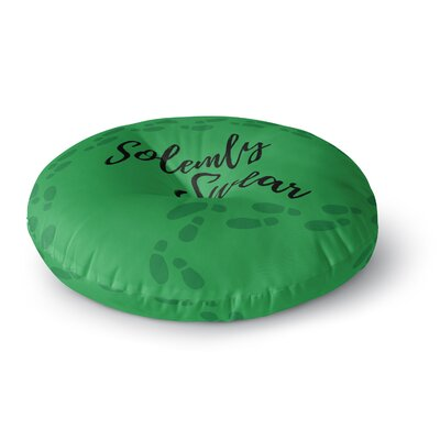 Jackie Rose Solemly Swear Illustration Round Floor Pillow Size: 23 x 23